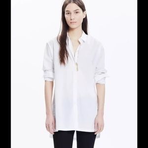 Madewell Streetview Button Front Tunic Shirt S